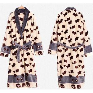 Robe De Chambre Polaire Beige Panda Homme Achat Vente Robe De