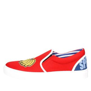 SLIP-ON Beat Generation Slip-on Chaussures Homme Rouge, 44