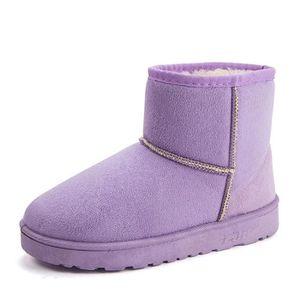 Le coton chaussures Hiver Chaud Bottines Femmes Marque De Luxe Bottes De Neige Extravagant Bottine Femmes Plus De Couleur,rose,37