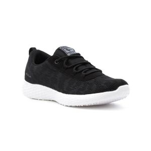 DERBY Women's Active Black And White Lace Up Trainer 3SW