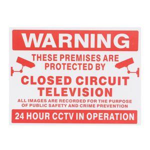 CONE - RUBAN CHANTIER NEUFU Sign Autocollant de Surveillance CCTV Pour C
