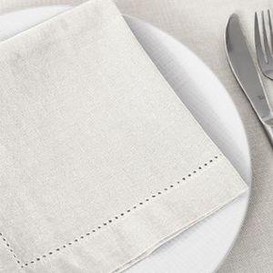 Lot serviette de table tissu blanc - Lot de serviette de table tissu pas cher ...