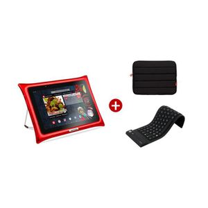 TABLETTE TACTILE Tablette Android Qooq Ultimate rouge 10 pouces  +