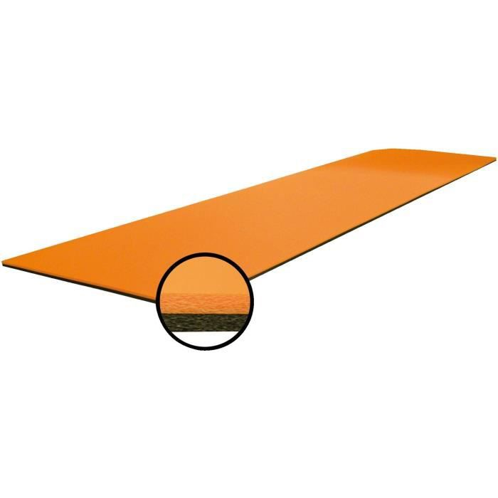 GVG Tapis de sol Grand Confort - Mixte - Orange