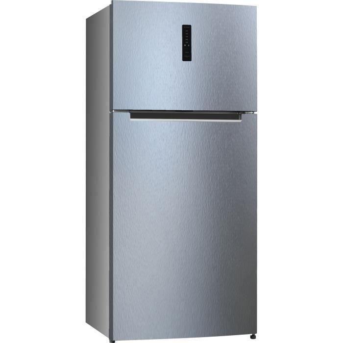 HAIER - HTM-776SNF - Réfrigérateur Double portes - 479L (369+110) - Froid No Frost - A+ - Silver