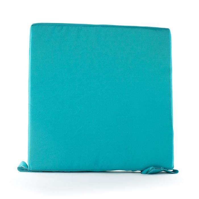 ANDORA Coussin de chaise d'extérieur MAX 40x40x4 cm bleu