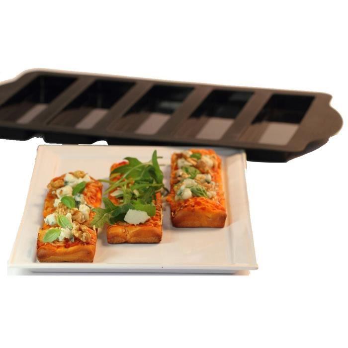YOKO DESIGN Moule à mini pizza avec emporte-pièce - Marron
