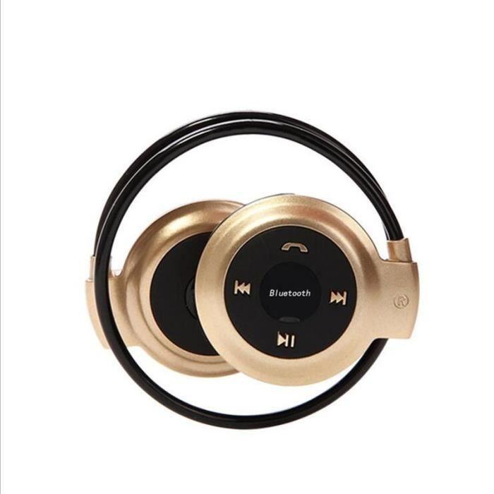 Ecouteur Bluetooth Sans Fil Nouveau 2017 Mini-503 Stéréo Casque D'écoute Écouteur Bande De Style Jaune