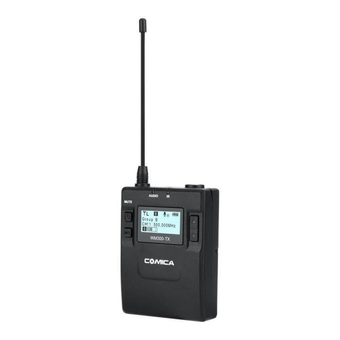 Comica Cvm-wm300a 1r2t Uhf Microphones Sans Fil À Clipser Émetteurs Récepteur Kit Pour Dslr