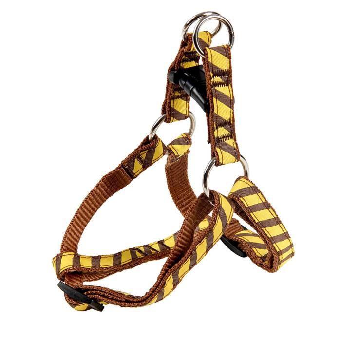 Collier De Chien En Gros Laisses Harnais Set Pet Dog Leash Sécurité Réglable Marche Chiot Corde Outing,jaune,1.2 M