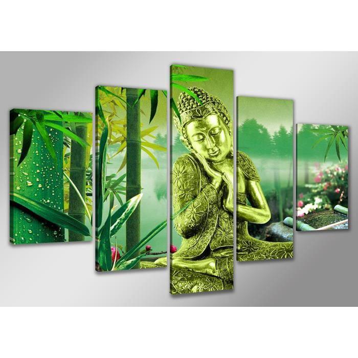 tableau moderne imprim 233 160x80 cm bouddha achat vente tableau toile toile bois cdiscount