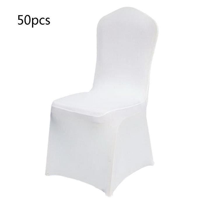 Blanc Mariage Artificiel Fête Décoration 50 Anniversaire Chaise Housse De Pcs n0kO8Pw
