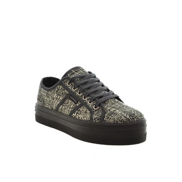 chaussures ville victoria 109266 blucher tweed plataf. noir EdUoG6
