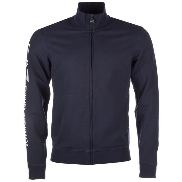 Veste de survêtement Emporio Armani EA7 pour homme en bleu marine ... e3606a639bf