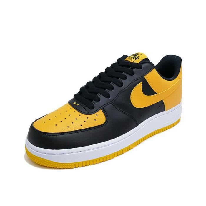 new style 16faa af1d7 ... inexpensive basket baskets homme nike air force 1 low noir jaune 36ee8  4c50c