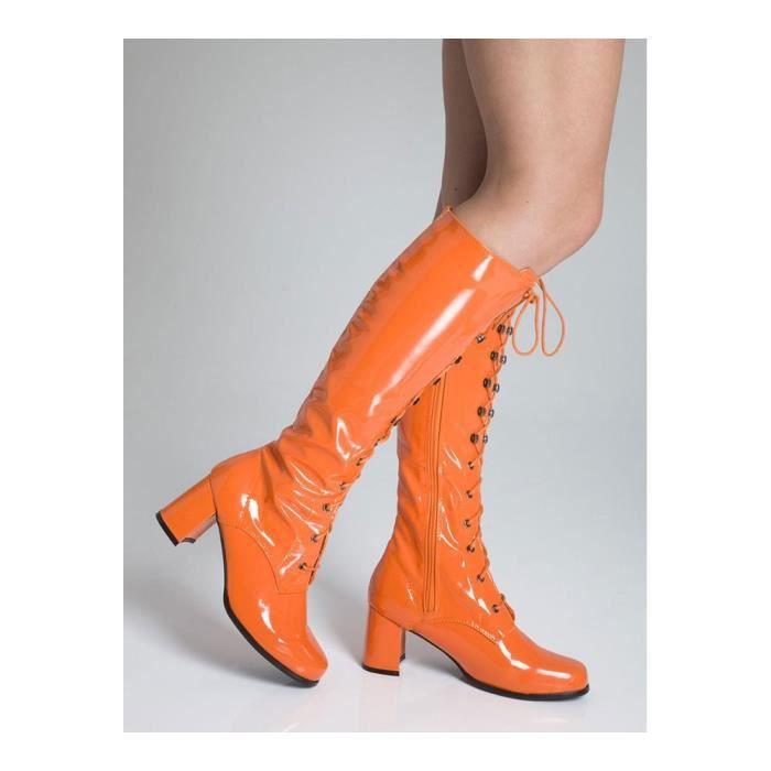Cuissardes Oeillet Mode GoGo Bottes Orange