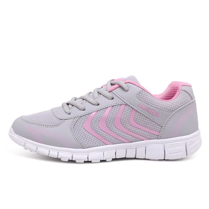 JOZSI Baskets Homme Chaussure hiver Jogging Sport Ultra Léger Respirant Chaussures HZ-XZ230Rose44 XUpNAdooc8