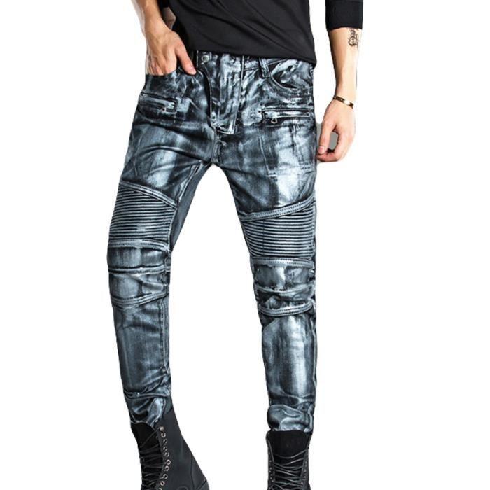 eb0f996352b Jeans Homme Jeans 2018 S-S Jeans rétro mode Jeans Hommes Gris Gris ...