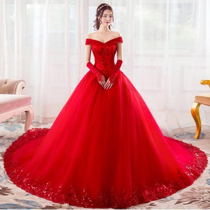 robes de mari e rouge cristal v cou robes de mari e. Black Bedroom Furniture Sets. Home Design Ideas