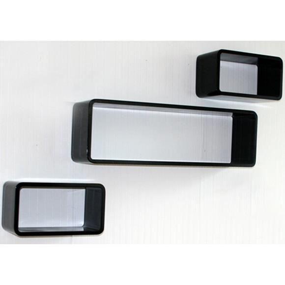 Étagère cube murale de 3 piéces Noir Forme Oval   Achat / Vente