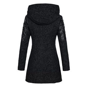 1518a2f7759 ... MANTEAU - CABAN Femmes Caban Veste Slim chaud épais parka d hiver ...