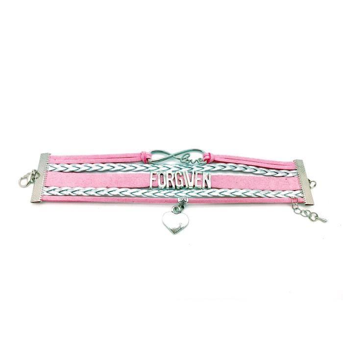 Womens Christian Bracelet, Forgiven Bracelet, Leather Friendship Bracelet, Gift For Christians, Fo R3G2J