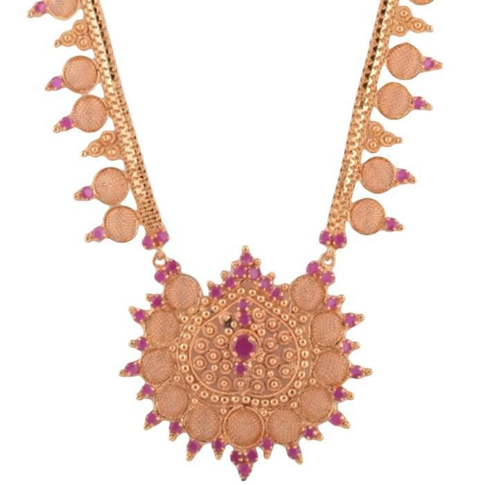 Womens Pink Copper Necklace ForXC0I5
