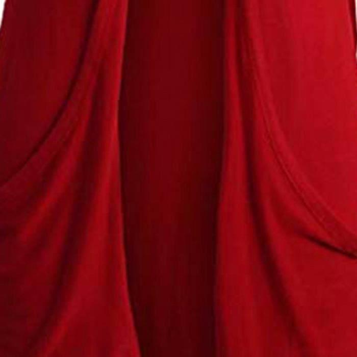 À Solide Longues Poche rouge Parka zss81022423rd De Manteaux Manches Femmes Manteau Gilet Hw6XX