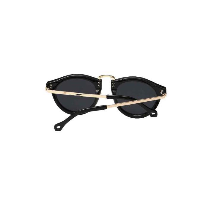 8b55de57be9103 ... Luxe Vintage lunettes de soleil miroir ronde pour hommes femmes Noir1