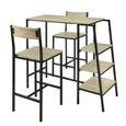 4b4321154ea5e2 SoBuy® OGT16-N Set de 1 Table + 2 Chaises Ensemble Table de Bar ...