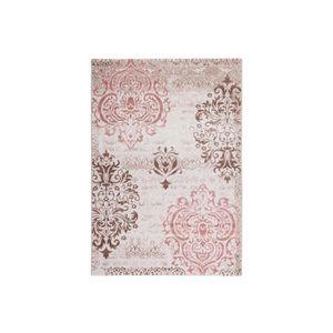 Tapis Beige Marron Et Rose Design 80 X 300cm En 100 Modacrylique