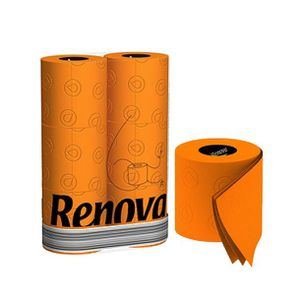 PAPIER TOILETTE Pack De 6 Rouleaux Papier Toilette Orange