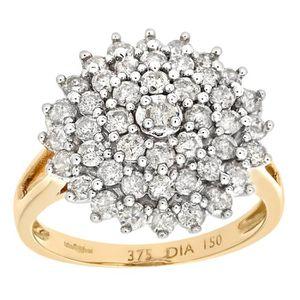 BAGUE - ANNEAU Revoni Bague Diamant Or Jaune 375° Femme: Poids du