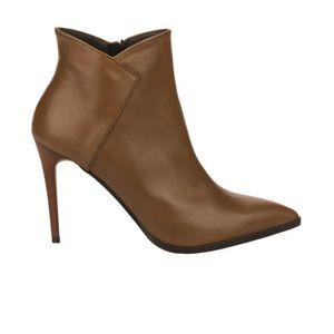 b9a61d178ba0 Boots femme - STYME - Naturel - 35 Marron Marron - Achat   Vente ...