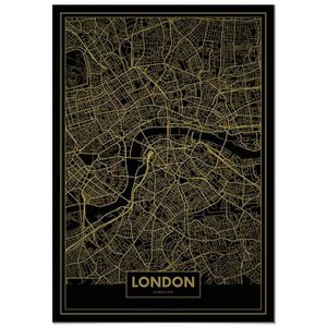 AFFICHE - POSTER Panorama® Poster Carte Or de Londres 70 x 100 cm -