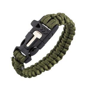 KIT DE SURVIE Bracelet de survie multifonction paracord avec dém