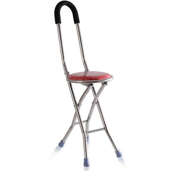 W ONLY YOU J Canne Tabouret Pliable En Acier Inoxydable A Quatre Pattes Chaise Pliante Peche Portable