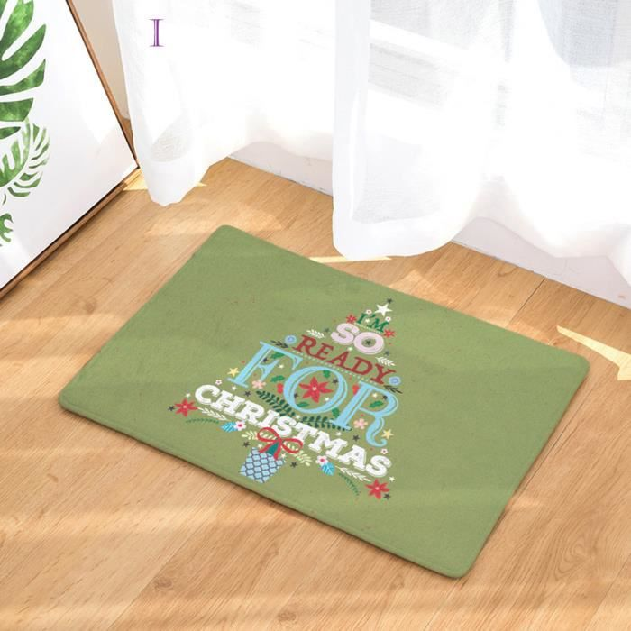 Maison de Noël antidérapant porte tapis de sol tapis tapis cuisine ...
