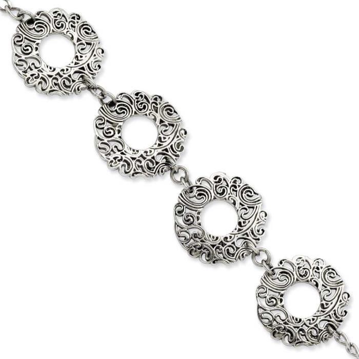 Texture fantaisie en acier inoxydable 18 cm avec extension Bracelet