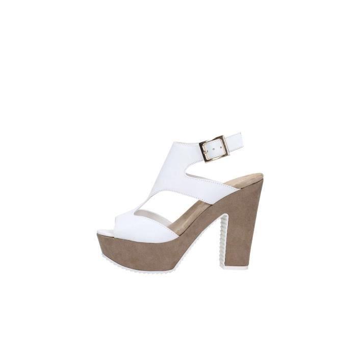 Elisa Conte Sandal Femme Blanc