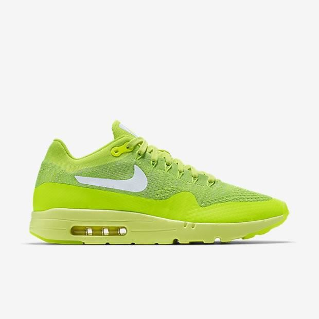 Basket Nike Air Max 1 Ultra Flyknit - Age Adulte, Couleur Jaune, Genre Homme, Taille 39