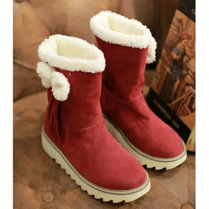 Bottes D'automne Et D'hiver Bottes De Coton Dans Les Bottes Bottes De Neige Femelle