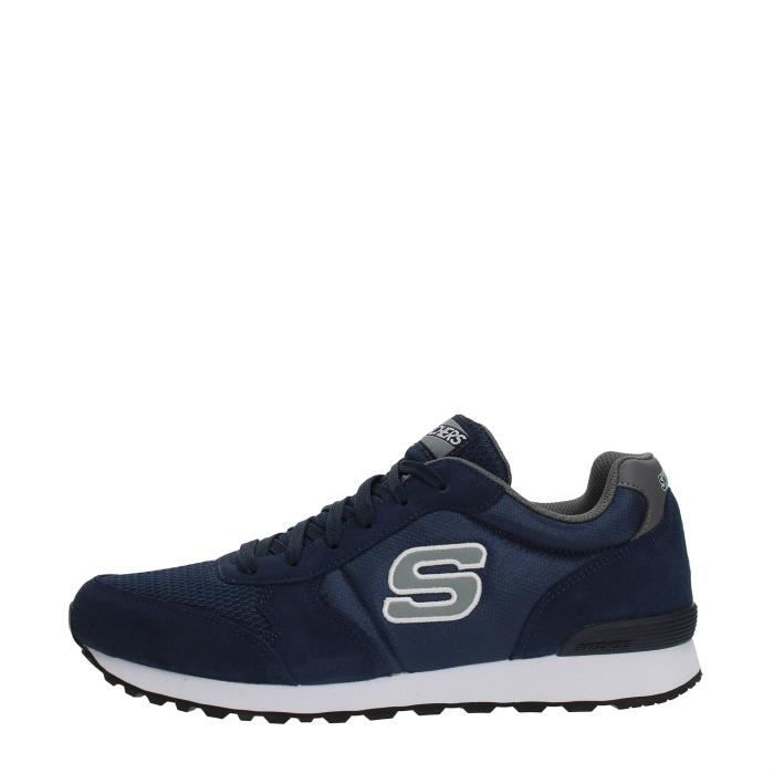 Skechers Sneakers Homme Noir Grey and blue navy AUpryE
