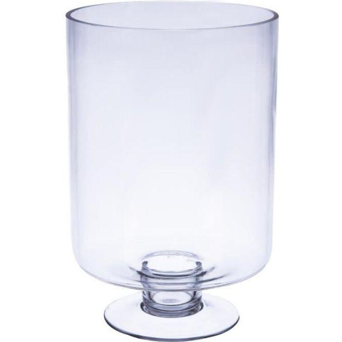 Vase En Verre Sur Pied Achat Vente Pas Cher