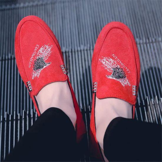 Extravagant Résistantes À Chaussures Homme Personnalité Moccasins Confortable L'usure Ms Super Durable FnR6H