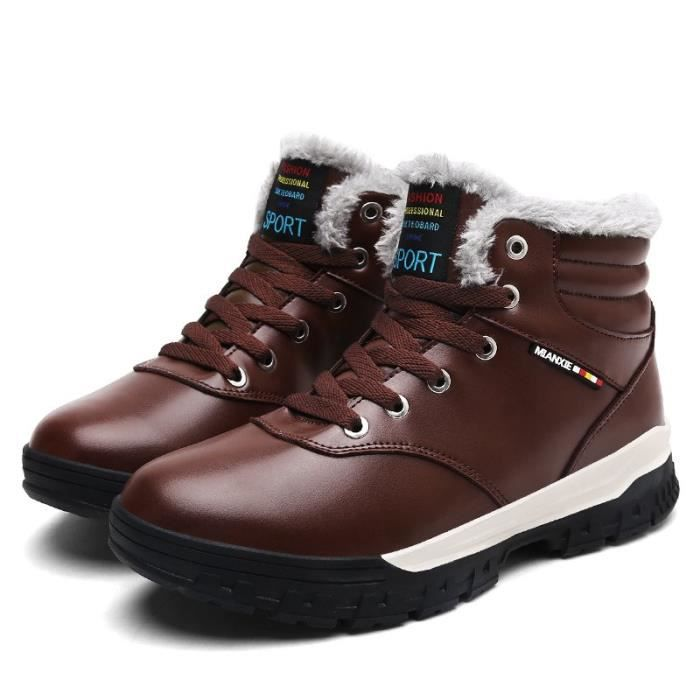 20171028002-6-39-Brown239-48 hiver hommes chaussures chaudes