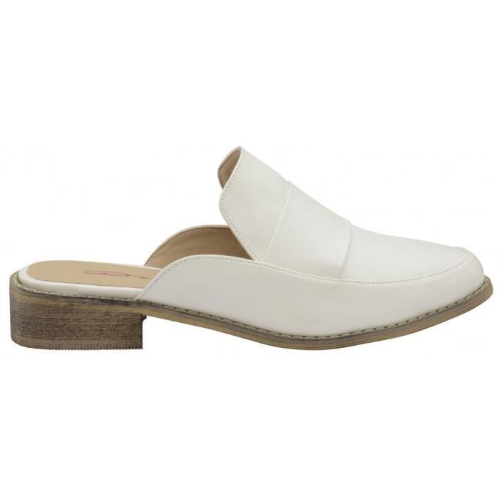 Dolcis Dunne Mule Femmes Chaussures sans lacets Blanc - 6 UK