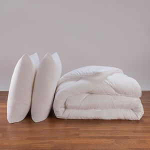 COUETTE Couette anti acarien 240x260  + 2 orelliers  600g