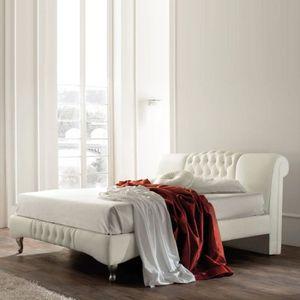 STRUCTURE DE LIT Lit design Sandra - 140x190 - Blanc