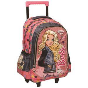 CARTABLE Sac à roulettes Barbie XOXO 43 CM - Trolley